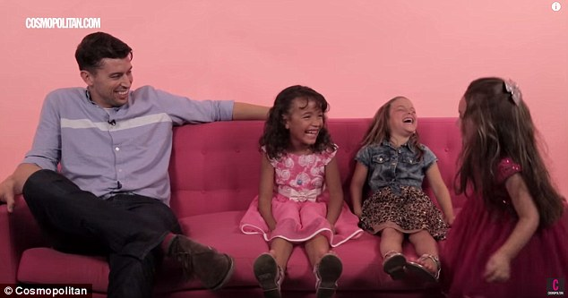 A different point of view: In a pair of new videos by Cosmopolitan, three little girls dole out adorable dating advice to adult men and women