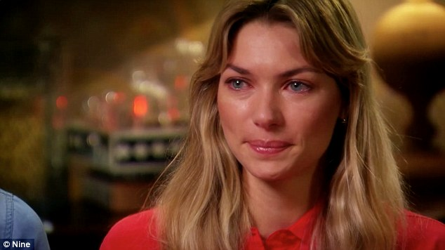 Emotional: Jessica Hart breaks down in tears as she opens up about her difficult childhood in upcoming interview with 60 Minutes