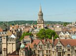 DG94CX Skyline of Oxford from St Mary's Tower, Oxford, Oxfordshire, England