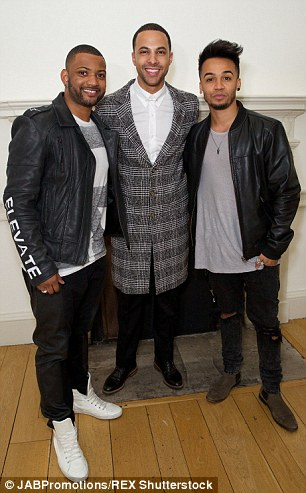 Health conscious Marvin with JLS band mates JB Gill and Aston Merrygold