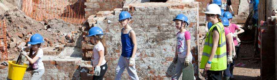 Community archaeology dig