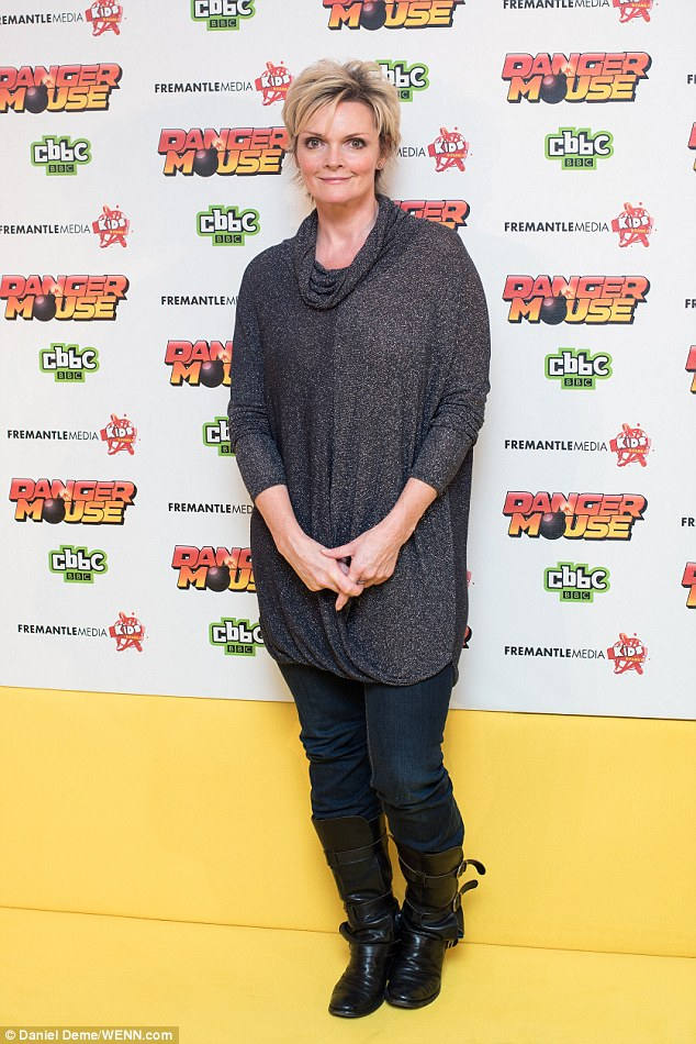 Celebrations: Sharon Small arrived in boots and an autumnal jumper