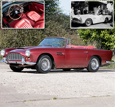 Ustinov's Aston Martin up for £1million