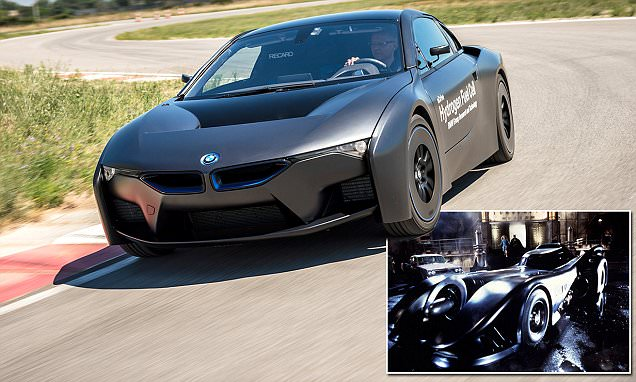 BMW reveals eco-friendly i8 batmobile that can go 300 miles on a tank