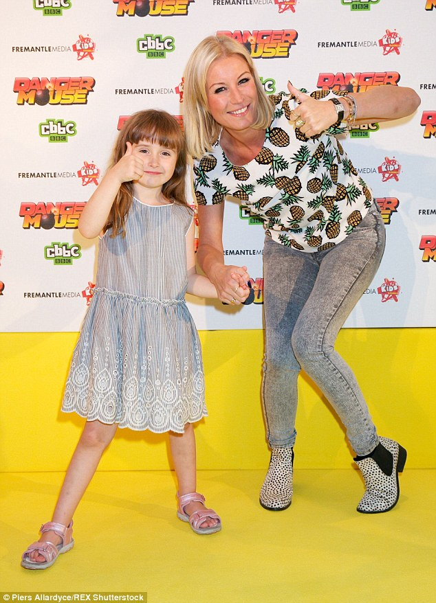 Thumbs up: Denise Van Outen was there with her adorable daughter Betsy