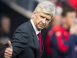 Steve Drew via Press Association Images Arsenal's manager Arsene Wenger gives a thumbs up before kick off