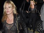 September 04, 2015    English model Kate Moss seen arriving at Nick Grimshaw's birthday party in London, England. Kate was looking stylish in an all black ensemble.    Non Exclusive  WORLDWIDE RIGHTS    Pictures by : FameFlynet UK © 2015  Tel : +44 (0)20 3551 5049  Email : info@fameflynet.uk.com
