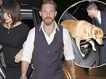 LONDON, ENGLAND - SEPTEMBER 03:  Tom Hardy and his Wife Charlotte Riley arrive at Groucho Club in Soho on September 3, 2015 in London, England.  (Photo by Keith Hewitt/GC Images)