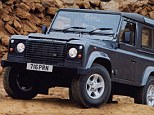 Old friend: The Land Rover Defender has been a rugged feature on our roads in different guises for three decades, it makes our list along with ten other 4x4s.
