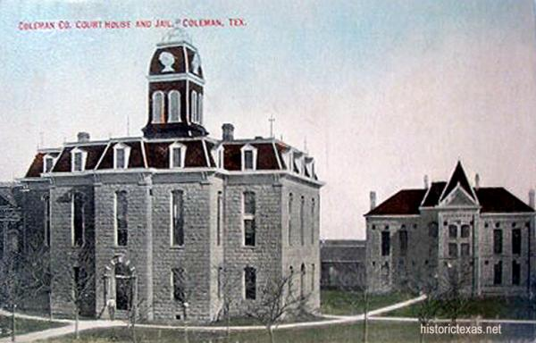 Coleman County Courthouse and Jail, early 1900s