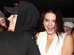 """NEW YORK, NY - SEPTEMBER 03:  (L-R) Justin Bieber and Kendall Jenner attend the Travis Scott """"Rodeo"""" Record Listening Party at UP and Down on September 3, 2015, in New York City.  (Photo by Johnny Nunez/WireImage)"""
