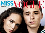 EMBARGOED 2200 - : Brooklyn Beckham on the cover of Miss Vogue . MUST RUN COVER.  MUST CREDIT DANIEL JACKSON