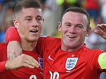 SAN MARINO, ITALY - SEPTEMBER 05: Ross Barkley (L) of England celebrates scoring England's third goal with Wayne Rooney of England during the UEFA EURO 2016 Qualifier Group E match between San Marino and England at Stadio Olimpico on September 5, 2015 in San Marino, Italy.  (Photo by Michael Regan - The FA/The FA via Getty Images)