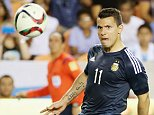 HOUSTON, TX - SEPTEMBER 04:  Sergio Aguero #11 of Argentina scores a goal past Dainel Vaca #1 of Bolivia during their international friendly match at BBVA Compass Stadium on September 4, 2015 in Houston, Texas.  (Photo by Scott Halleran/Getty Images)