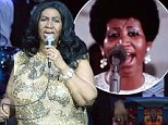 """OAKLAND, CA - AUGUST 10:  Aretha Franklin performs during her """"Great Diva Classics Tour"""" at ORACLE Arena on August 10, 2015 in Oakland, California.  (Photo by Tim Mosenfelder/Getty Images)"""