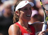 Johanna Konta of the United Kingdom celebrates after she defeated Andrea Petkovic of Germany during their 2015 US Open Women's Singles round 3 match at the USTA Billie Jean King National Tennis Center on September 5, 2015 in New York. AFP PHOTO/KENA BETANCURKENA BETANCUR/AFP/Getty Images