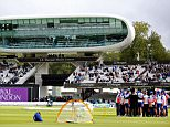 The England team have a team talk during the warm up before the second Royal London ODI match between England and Australia played at Lord's, London