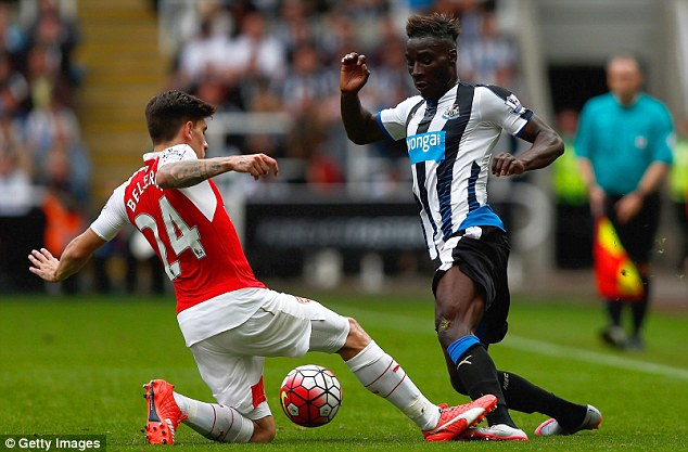 Bellerin takes on Newcastle's Massadio Haidara during their victory at St James' Park last weekend