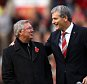 (FILE PHOTO) Manchester United have announced that its Chief Executive David Gill will step down in the summer after ten years in the position MANCHESTER, ENGLAND - NOVEMBER 05:  Chief Executive David Gill (r) announces the name changing of the North Stand to the 'Sir Alex Ferguson Stand' to commemerate Sir Alex's 25th year as Manager during the Barclays Premier League match between Manchester United and Sunderland at Old Trafford on November 5, 2011 in Manchester, England.  (Photo by Richard Heathcote/Getty Images)