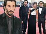 epa04914926 (L-R) Canadian actor Keanu Reeves, Chilean model and actress Lorenza Izzo Parsons and US film director and actor Eli Roth arrive on the red carpet prior to the projection of 'Knock Knock' during 41st Deauville American Film Festival, in Deauville, France, 05 September 2015. The festival runs from 04 to 13 September.  EPA/ETIENNE LAURENT