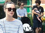 NEW YORK, NY - SEPTEMBER 04: Keira Knightley with baby Edie Righton and husband James Righton are  seen on September 04, 2015 in New York City.  (Photo by Ignat/Bauer-Griffin/GC Images)