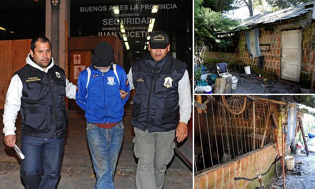 Argentinian Eduardo Oviedo locked wife and autistic son in an iron CAGE and made him eat
