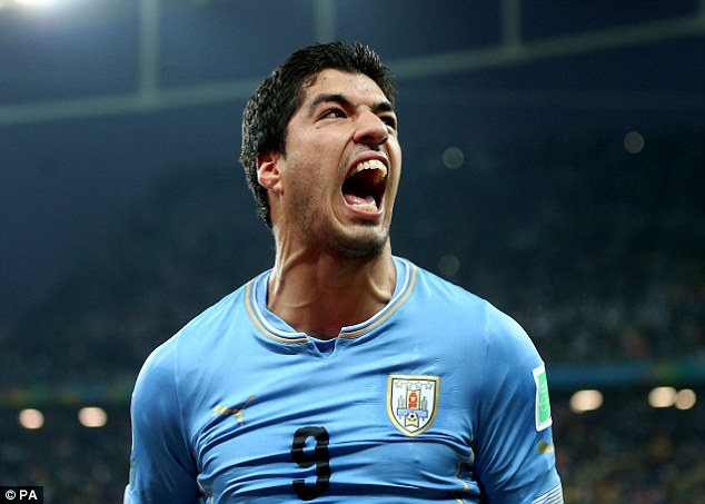 Controversy: Luis Suarez was banned from world football for four months after biting Giorgio Chiellini