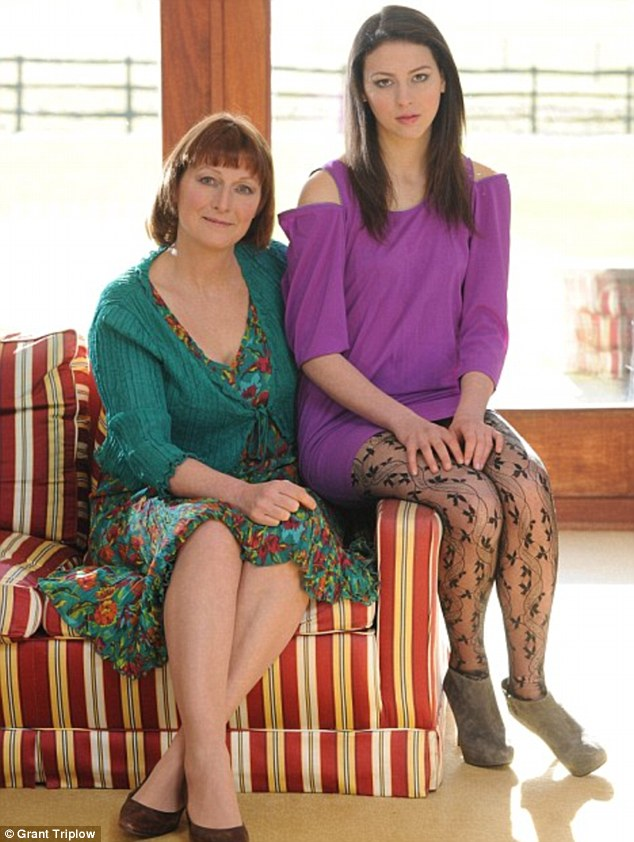 'I have a great rack': Madeline Grant, pictured here with her mother freelance writer Sally Jones, has been accused of damaging the perception of women