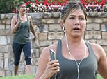 "Picture Shows: Jennifer Aniston  September 01, 2015\n \n Newlywed Jennifer Aniston films a workout scene for her new movie ""Mother's Day"" in Atlanta, Georgia. Jennifer, having just returned from her honeymoon with her new husband Justin Theroux, will be joining fellow A-Listers Julia Roberts and Kate Hudson in this ensemble film.\n \n Non Exclusive\n UK RIGHTS ONLY\n \n Pictures by : FameFlynet UK © 2015\n Tel : +44 (0)20 3551 5049\n Email : info@fameflynet.uk.com"