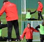 LIVERPOOL, ENGLAND - OCTOBER 17:  (THE SUN OUT, THE SUN ON SUNDAY OUT) Brendan Rodgers manager of Liverpool talks with Mario Balotelli during a training session at Melwood Training Ground on October 17, 2014 in Liverpool, England.  (Photo by John Powell/Liverpool FC via Getty Images)