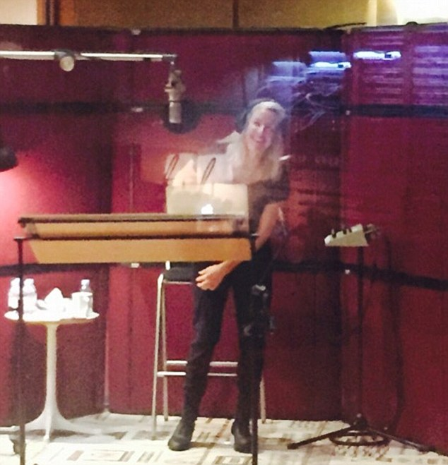 Too excited: Ellie is back in the studio but explained that she was at times 'too excited' to sing on Thursday