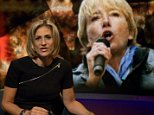 emma thompson and Emily Maitlis on Newsnight