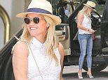 Reese was seen arriving at the Montage Hotel in Beverly hills   Pictured: Reese Witherspoon  Ref: SPL1113595  040915   Picture by: Reefshots / Splash News  Splash News and Pictures Los Angeles: 310-821-2666 New York: 212-619-2666 London: 870-934-2666 photodesk@splashnews.com