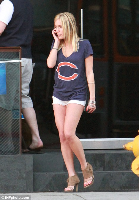 Casual cool: Kristin Cavallari enjoyed a relaxing afternoon watching sports before later dressing up for a night on the town
