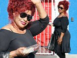 Hollywood, CA - Chaka Khan and Keo Motsepe are all smiles as they arrive the dance studio in Hollywood.\n AKM-GSI            September 5, 2015\n \n To License These Photos, Please Contact :\n \n Steve Ginsburg\n (310) 505-8447\n (323) 423-9397\n steve@akmgsi.com\n sales@akmgsi.com\n \n or\n \n Maria Buda\n (917) 242-1505\n mbuda@akmgsi.com\n ginsburgspalyinc@gmail.com