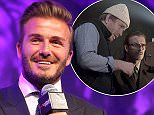 David Beckham OBE, Receives Legend of Football Award at Nordoff Robbins HMV Football Extravaganza. Tuesday 1st September 2015. Grosvenor House, Park Lane.