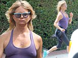 Please contact X17 before any use of these exclusive photos - x17@x17agency.com   Goldie Hawn pokes through her top as she runs braless through Brentwood. September 3, 2015 X17online.com EXCLUSIVE\n