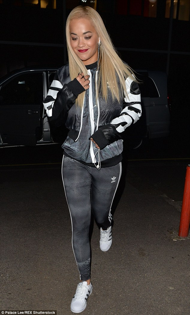 Hot right now: Rita Ora brought her brave and unstoppable attitude to her outfit on Friday, as she attended the launch of her new Adidas collection at JD Sports in central London