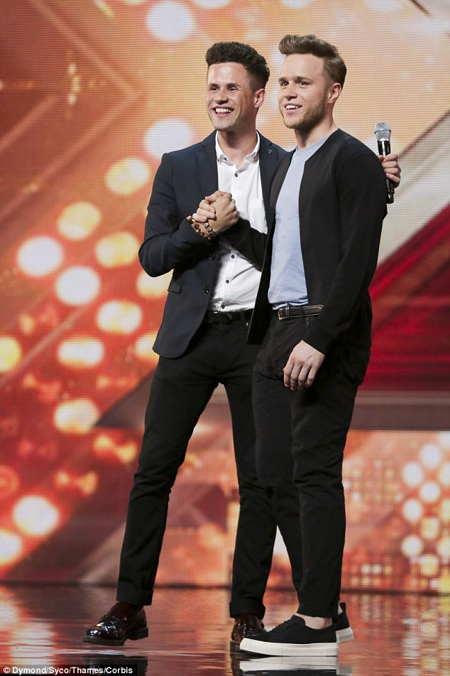 Seeing double! Olly Murs also came to face-to-face with his doppelgager during Saturday's show