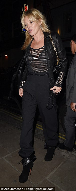 London look: She pulled her trousers high for a chic image