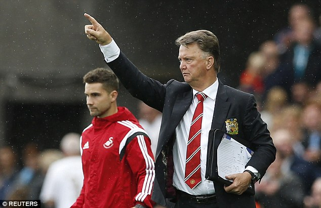 Louis van Gaal (right) has been in charge for over a year and Manchester United's net spend is around £170m