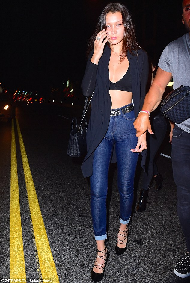 Out on the town: Bella was seen out at the Travis Scott album release party in New York on Wednesday night