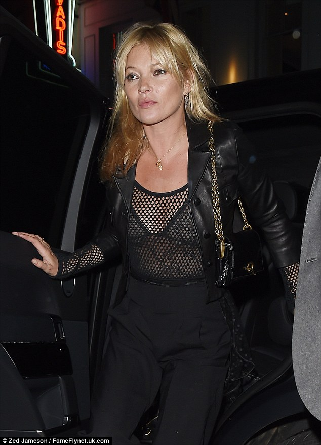 Racy: The mesh ensemble revealed her see-through bralet beneath as she was papped on arrival