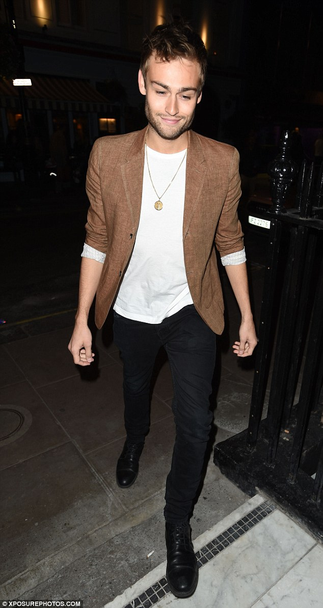 Heartthrob:British actor Douglas Booth smartened up the evening in a camel-coloured blazer with black skinny jeans