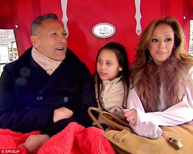 Reality show: Former sitcom star Leah now appears with Angelo and Sofia in TLC's It's All Relative