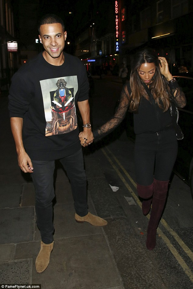 Happy couple: It seems that Grimmy's party was also something of a mini X Factor reunion as, aside from judge Rita, he was also joined by The Xtra Factor co-host Rochelle and her husband, Marvin