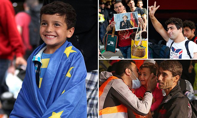 Refugees arrive in Germany and Austria as fresh calls for action in Syria