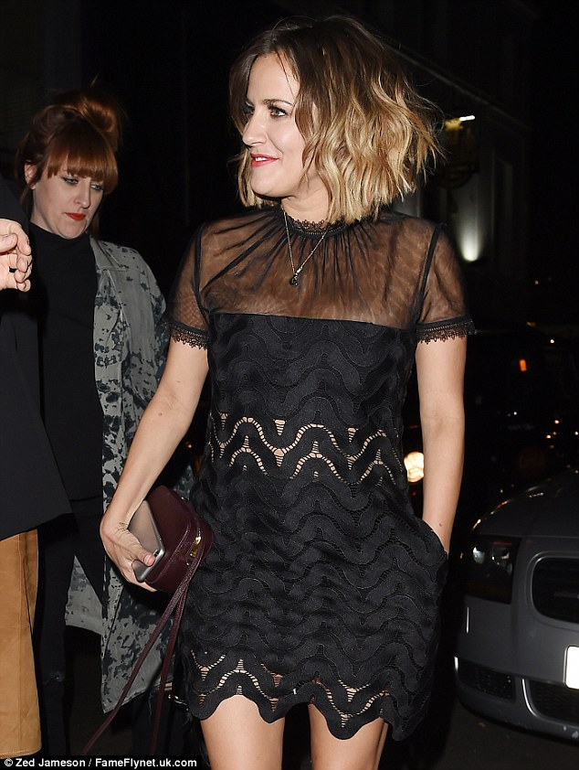 She's got the X Factor!The 35-year-old presenter looked absolutely sensational as she arrived at the private party, held at a London venue