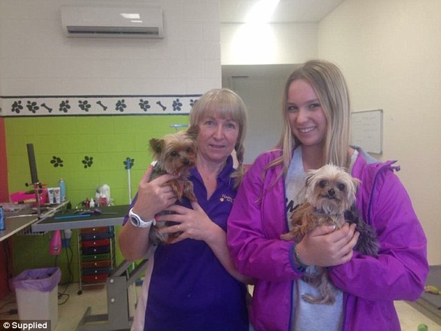 'I was privileged to do them': Happy Dogz salon owner Lianne Kent (left) told Daily Mail Australia