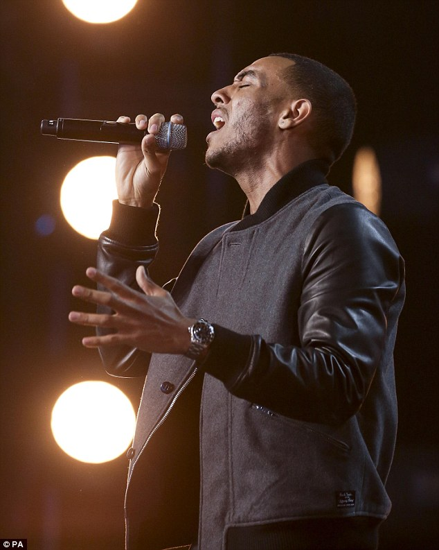 Touching: Successful audtionee Josh Daniels performed a soulful rendition of Labrinth's song Jealous